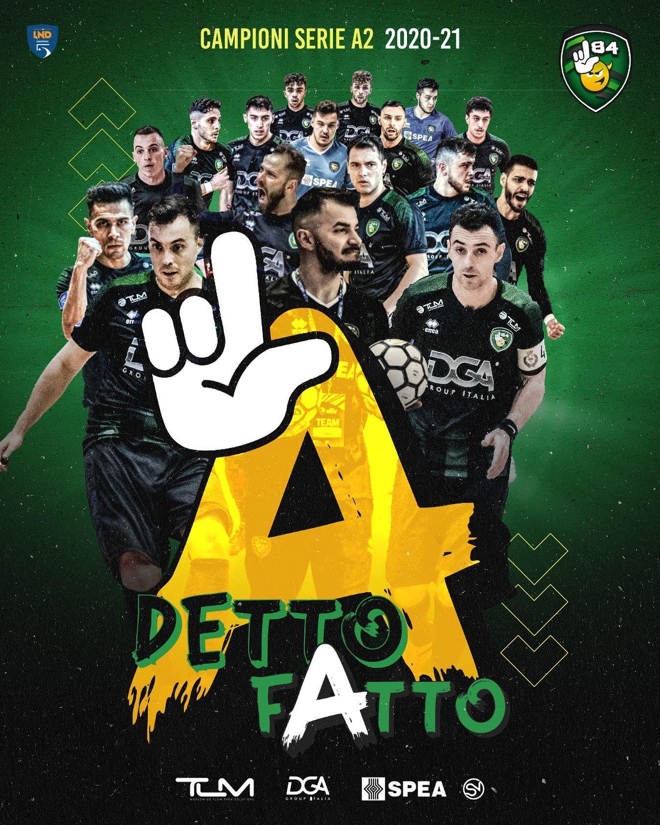 CALCIO A 5 SERIE A2 - L84 vince il campionato: dai dilettanti alla Seria A in dieci anni