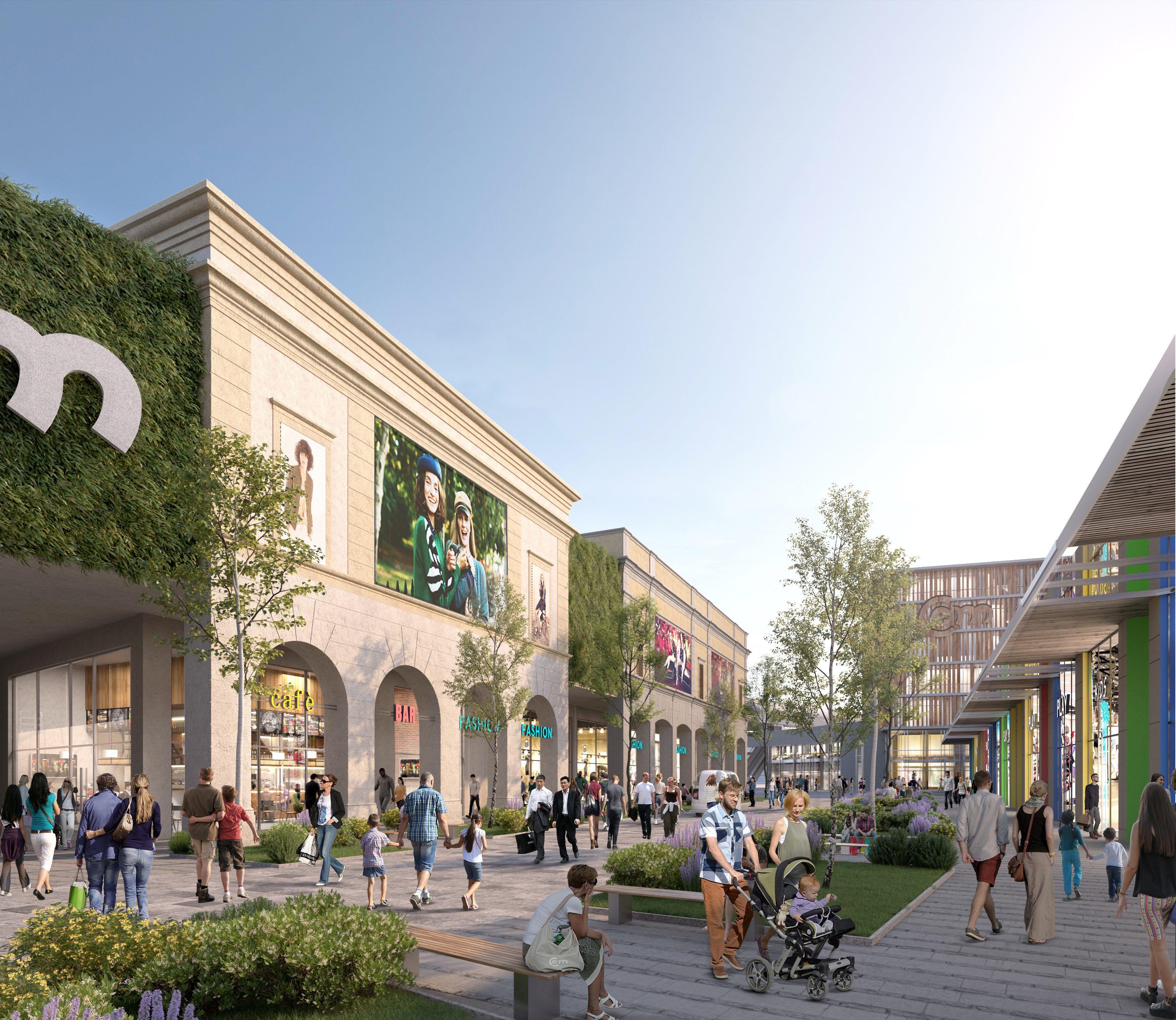 CASELLE OPEN MALL - Ecco come sarà il mega centro commerciale che aprirà nel 2022: previsti 2500 posti di lavoro - FOTO PROGETTO