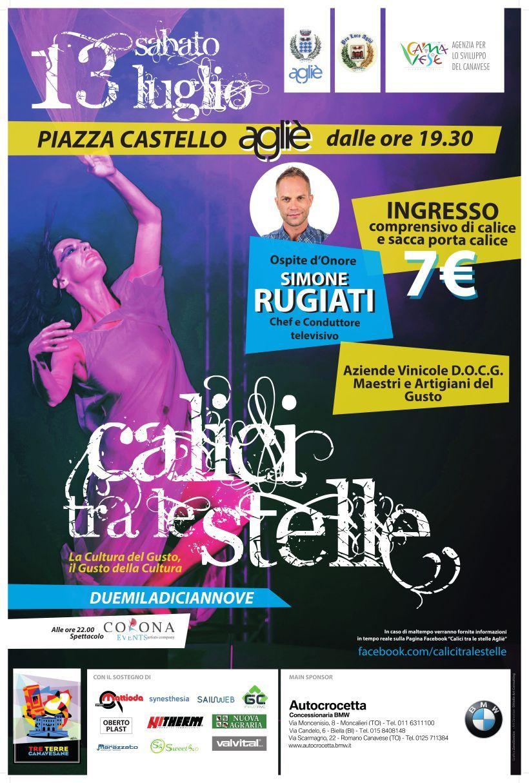 AGLIE' - Gusto e cultura nella splendida cornice di piazza Castello: torna «Calici tra le Stelle»
