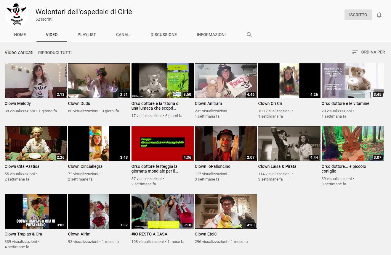 CIRIE' - Volontari in ospedale ai tempi del covid: la cura dei «clownterapeuti» è su Youtube