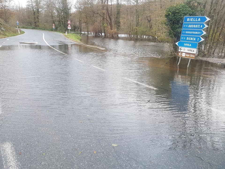 CHIAVERANO - Alluvione novembre: ricognizione danni a case e aziende