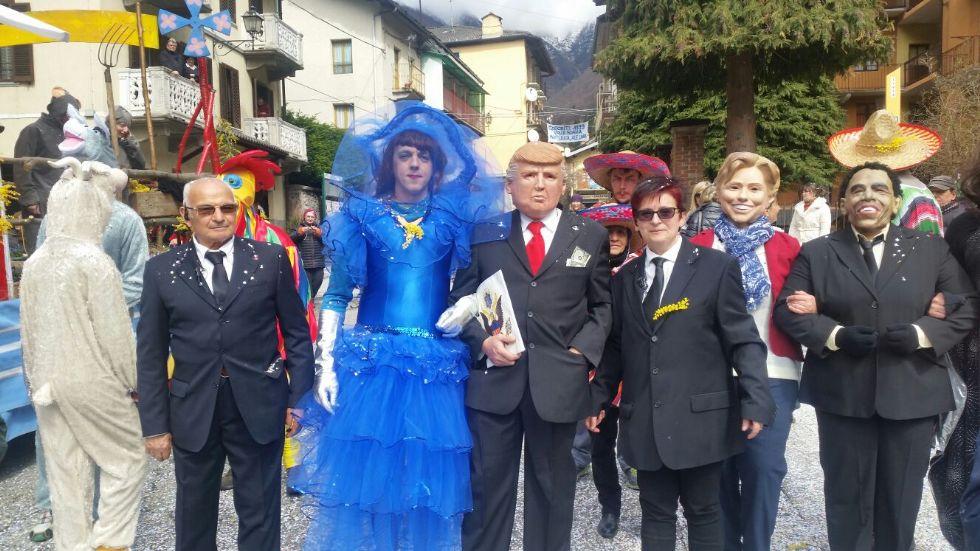 VALLE SOANA - Anche Donald Trump al carnevale - FOTO e VIDEO