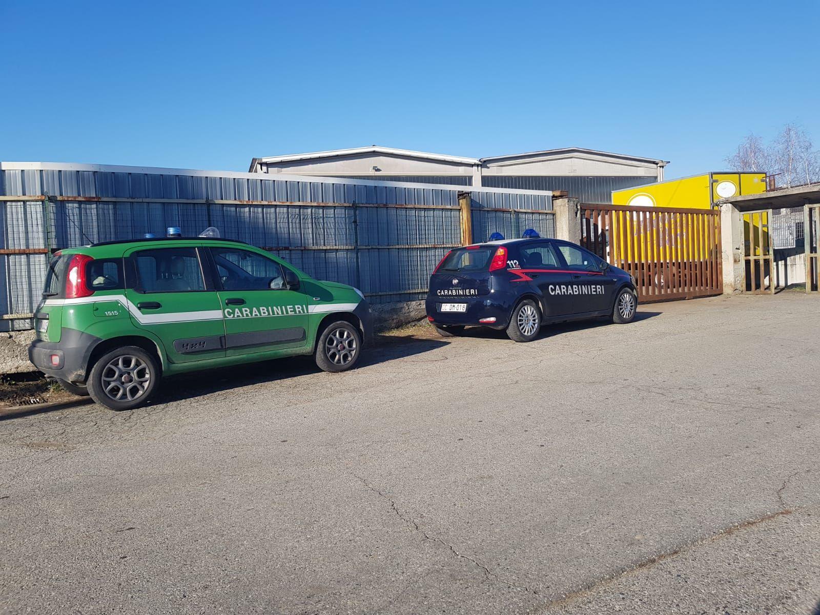 OGLIANICO - Azienda senza autorizzazioni: blitz dei carabinieri. Capannone sotto sequestro e maxi multa