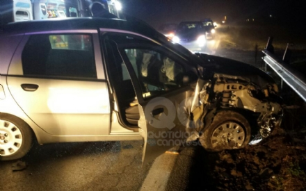 OZEGNA - Il parroco tampona un'auto: il ferito, grave, finisce al Cto - FOTO