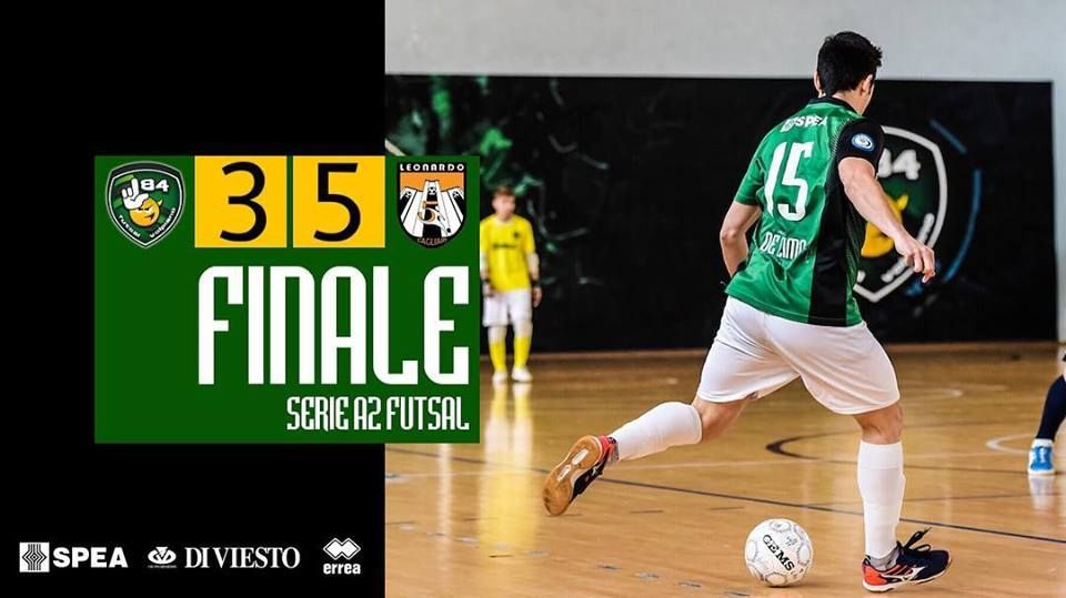CALCIO A 5 SERIE A2 - L84 sconfitta con addio al sogno playoff