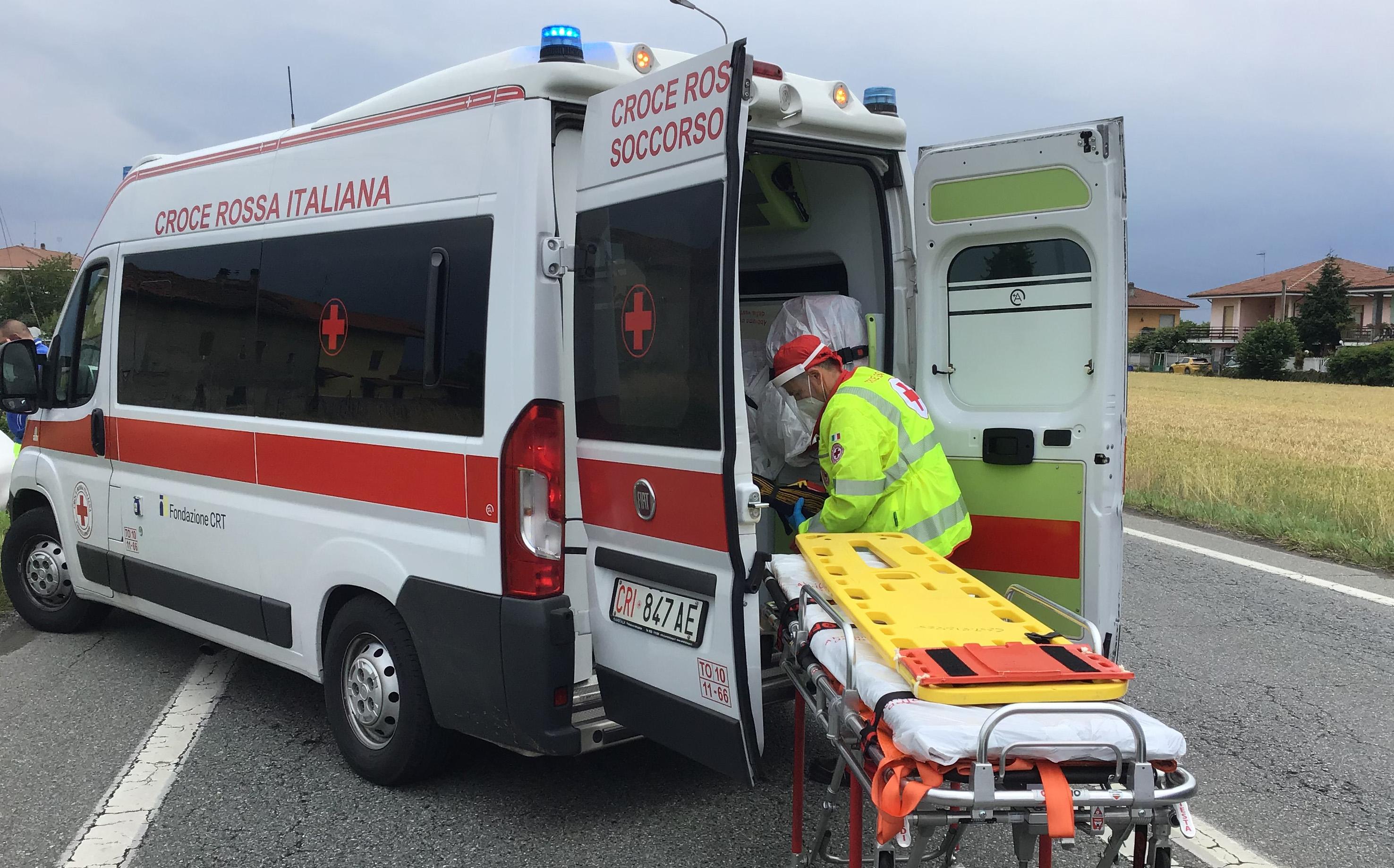 CHIVASSO - Motociclista gravissimo dopo l'incidente a Lauriano Po