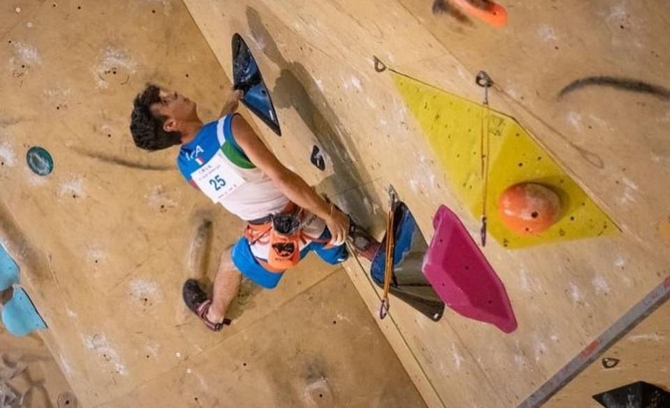 CUORGNE' - Arrampicata sportiva, Luca Malosti sale sul terzo gradino del podio in Coppa Europa