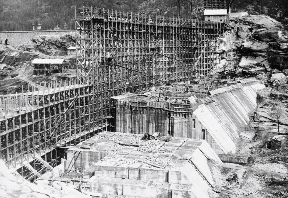 CERESOLE REALE - Novant'anni fa iniziavano i lavori della diga - FOTO D'EPOCA