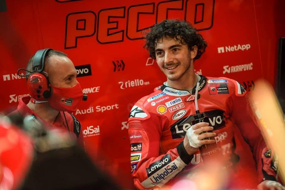 MOTO GP - Pecco Bagnaia terzo al gran premio del Qatar: la stagione inizia con un podio