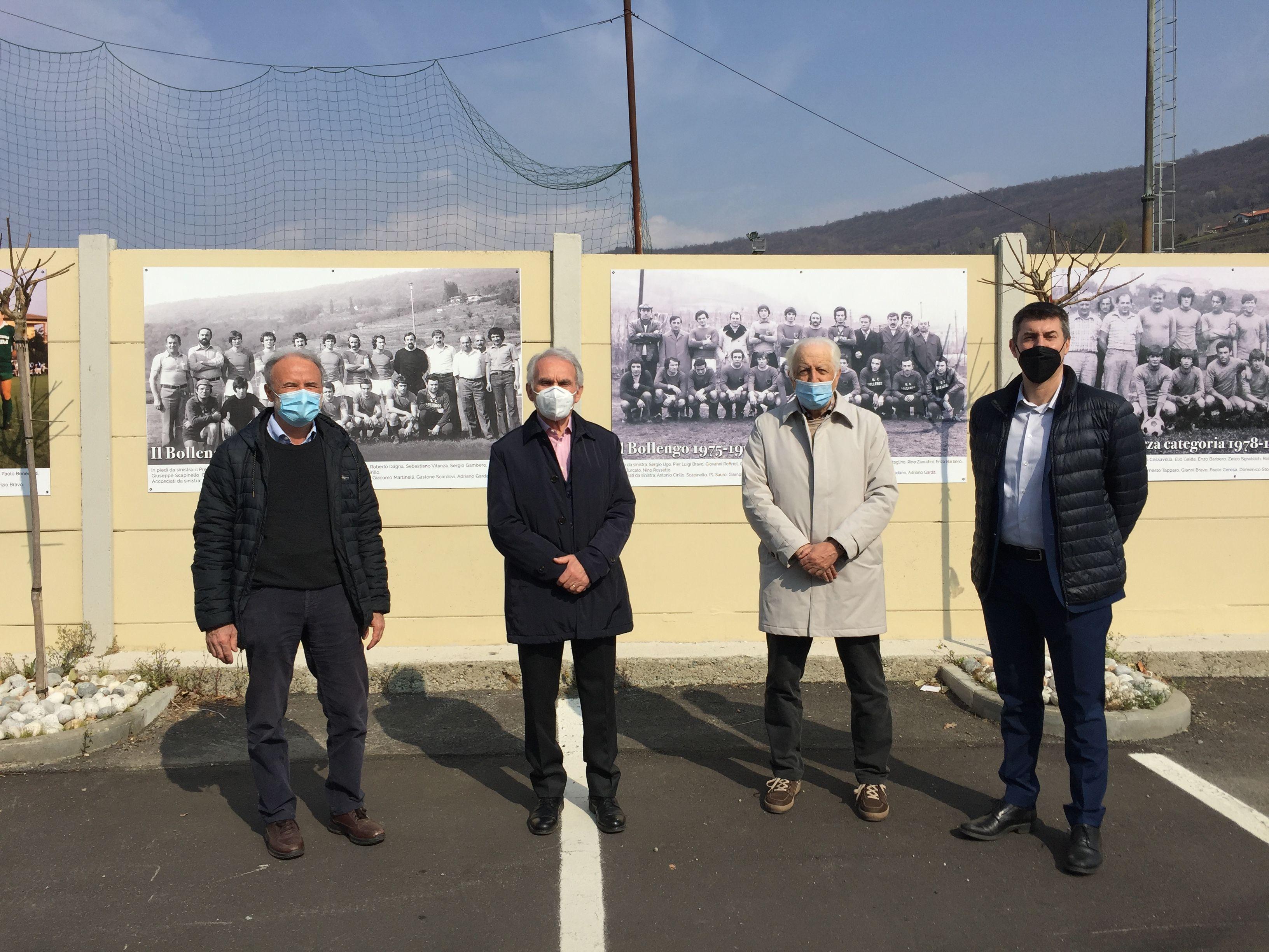 CALCIO - La storia del Bollengo nelle gigantografie sui muri dello stadio - FOTO