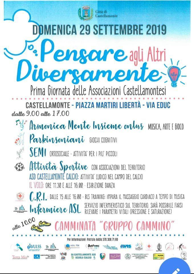 CASTELLAMONTE - Una giornata dedicata al volontariato e alle associazioni