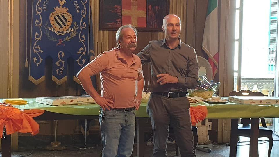 RIVAROLO - Festa in municipio per la pensione del mitico Nunzio Cirulli