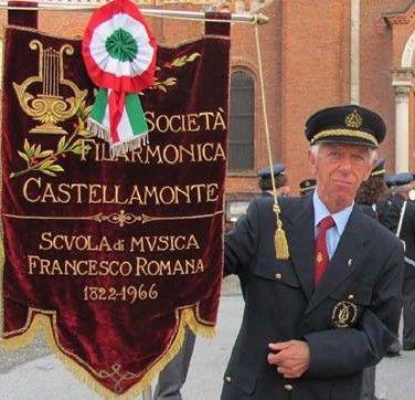 CASTELLAMONTE - Addio ad Enrico Fassio, storico Porta Bandiera della Filarmonica