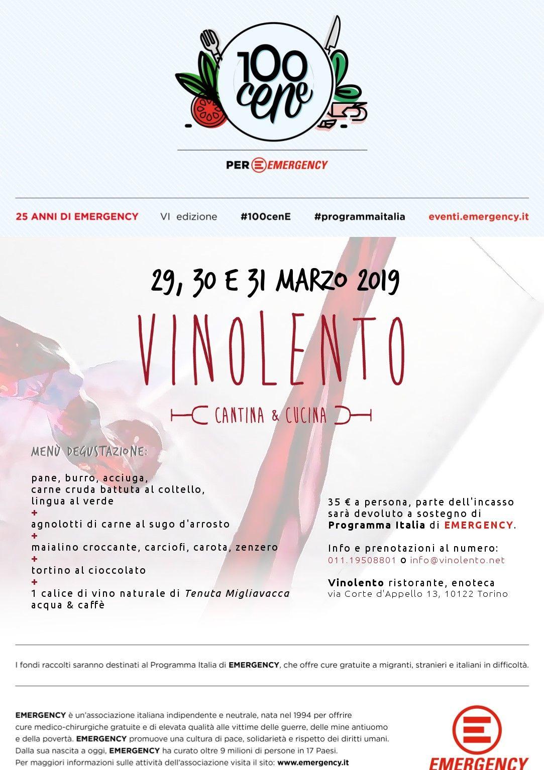 SOLIDARIETA' - Emergency Canavese aderisce all'iniziativa #100cene