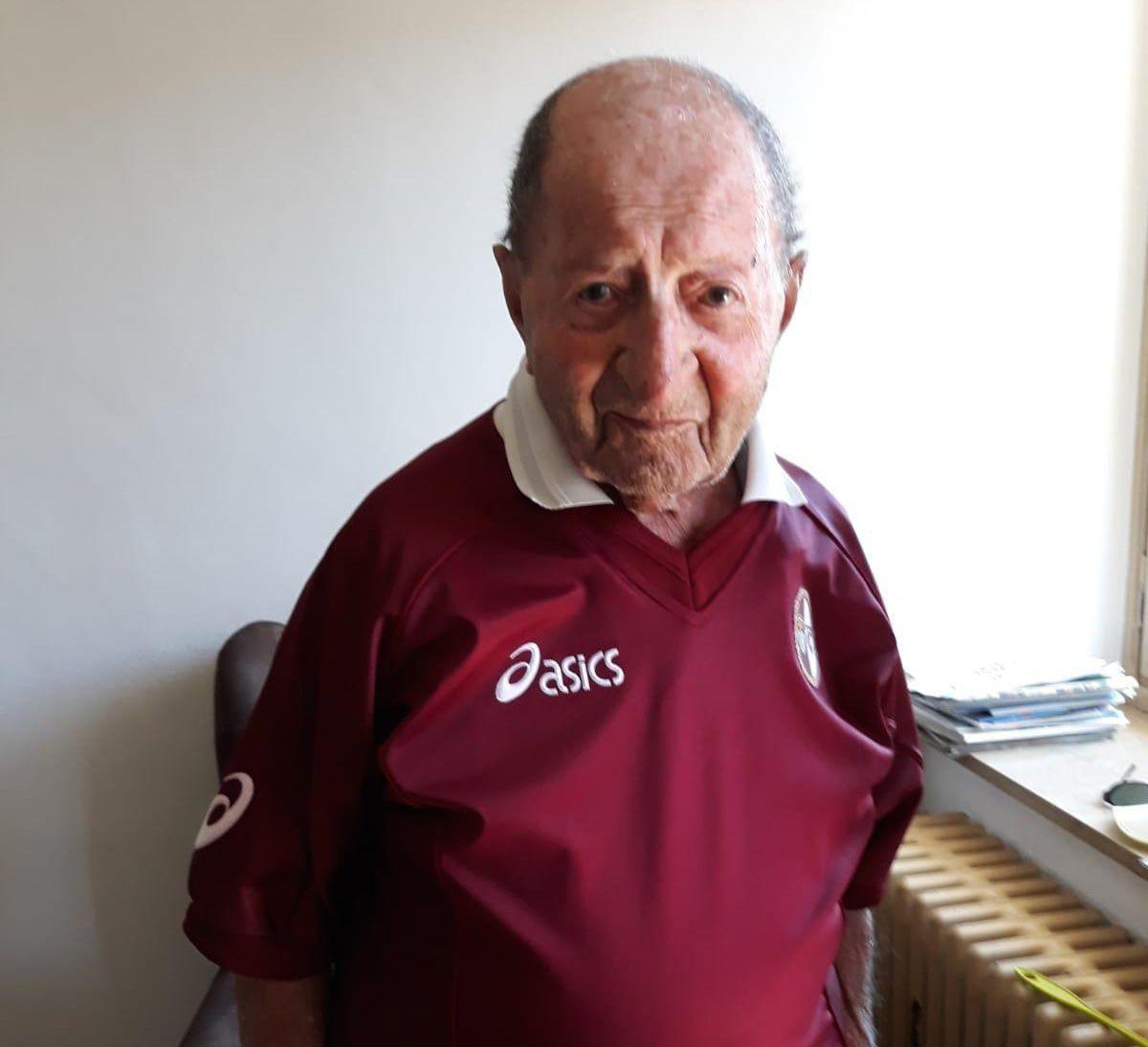 VALPERGA - E' morto Franco Boggio: aveva 109 anni. Era il tifoso più longevo del Torino Calcio