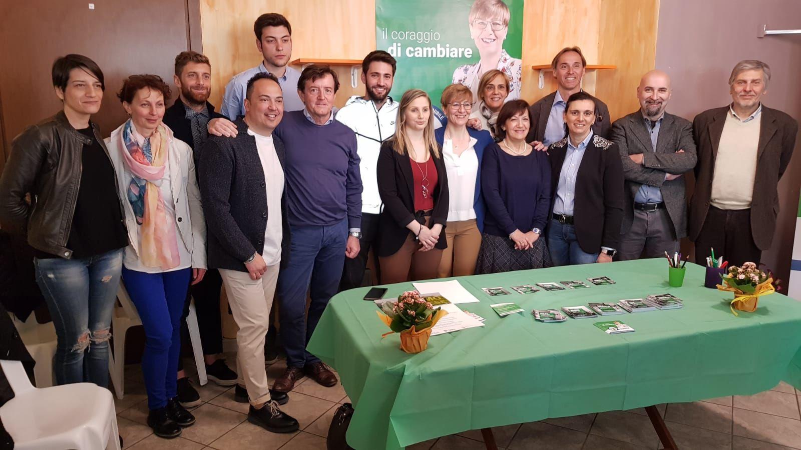 RIVAROLO - Marina Vittone ha presentato la sede elettorale - FOTO