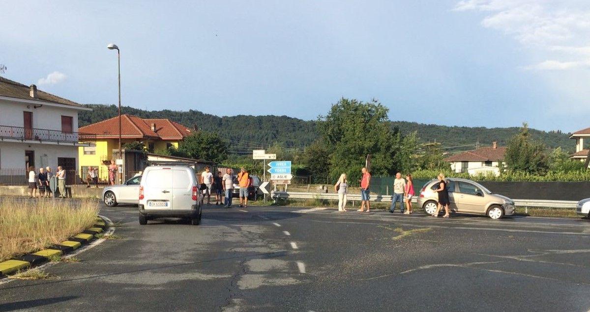 AGLIE' - Incidente stradale sulla provinciale per Bairo - FOTO
