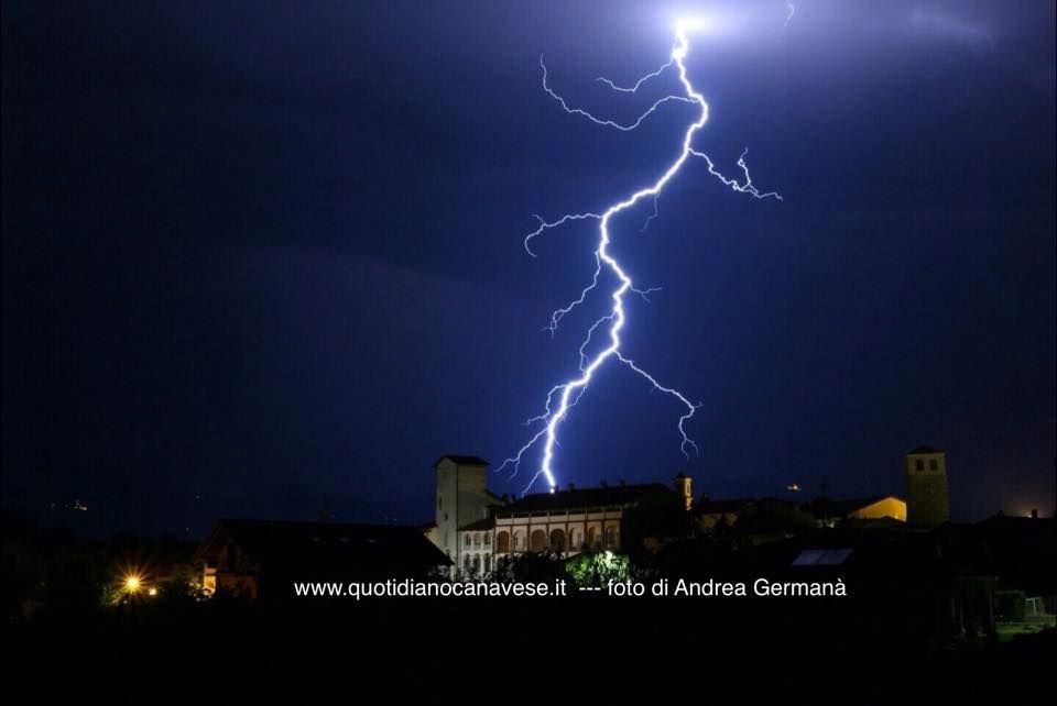 CANAVESE - Mercoledi allerta gialla per temporali e grandine