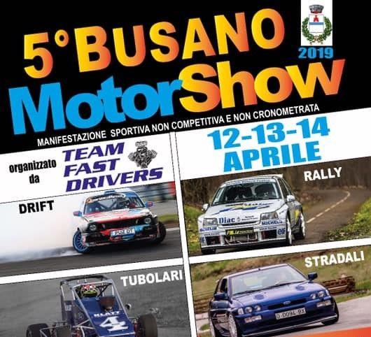 BUSANO - Quinta edizione del Motor Show: torna lo spettacolo dei motori