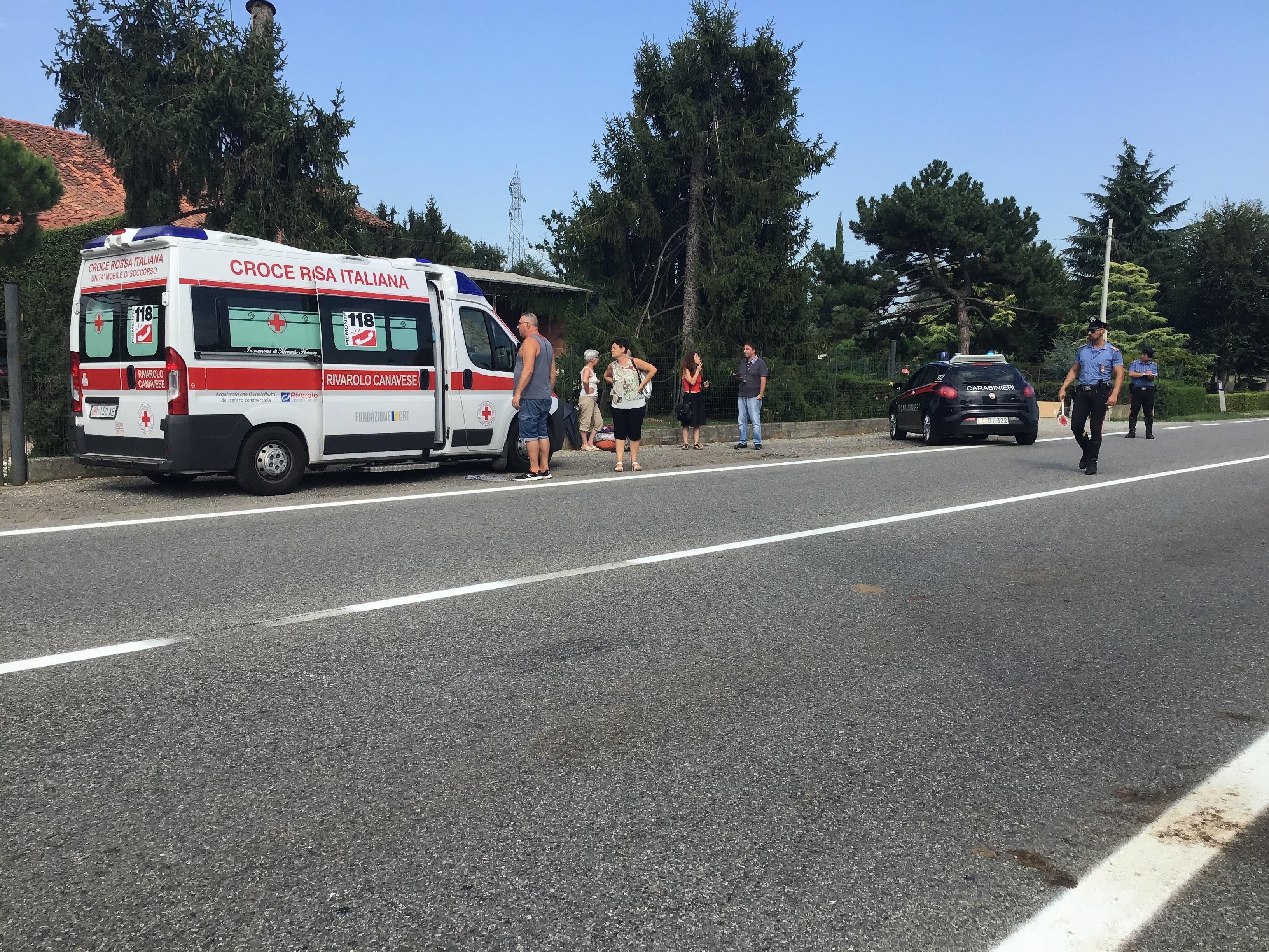 OZEGNA - Sindaco Bartoli ferito in un incidente stradale - FOTO
