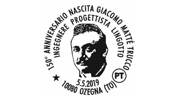 OZEGNA - Un annullo speciale per Mattè Trucco, papà del Lingotto