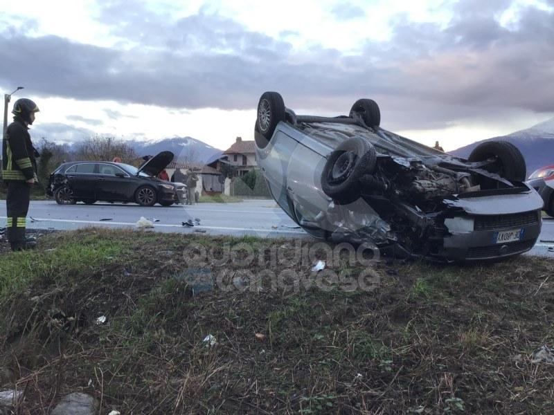 CASTELLAMONTE - Spaventoso incidente sulla pedemontana: traffico in tilt - FOTO E VIDEO