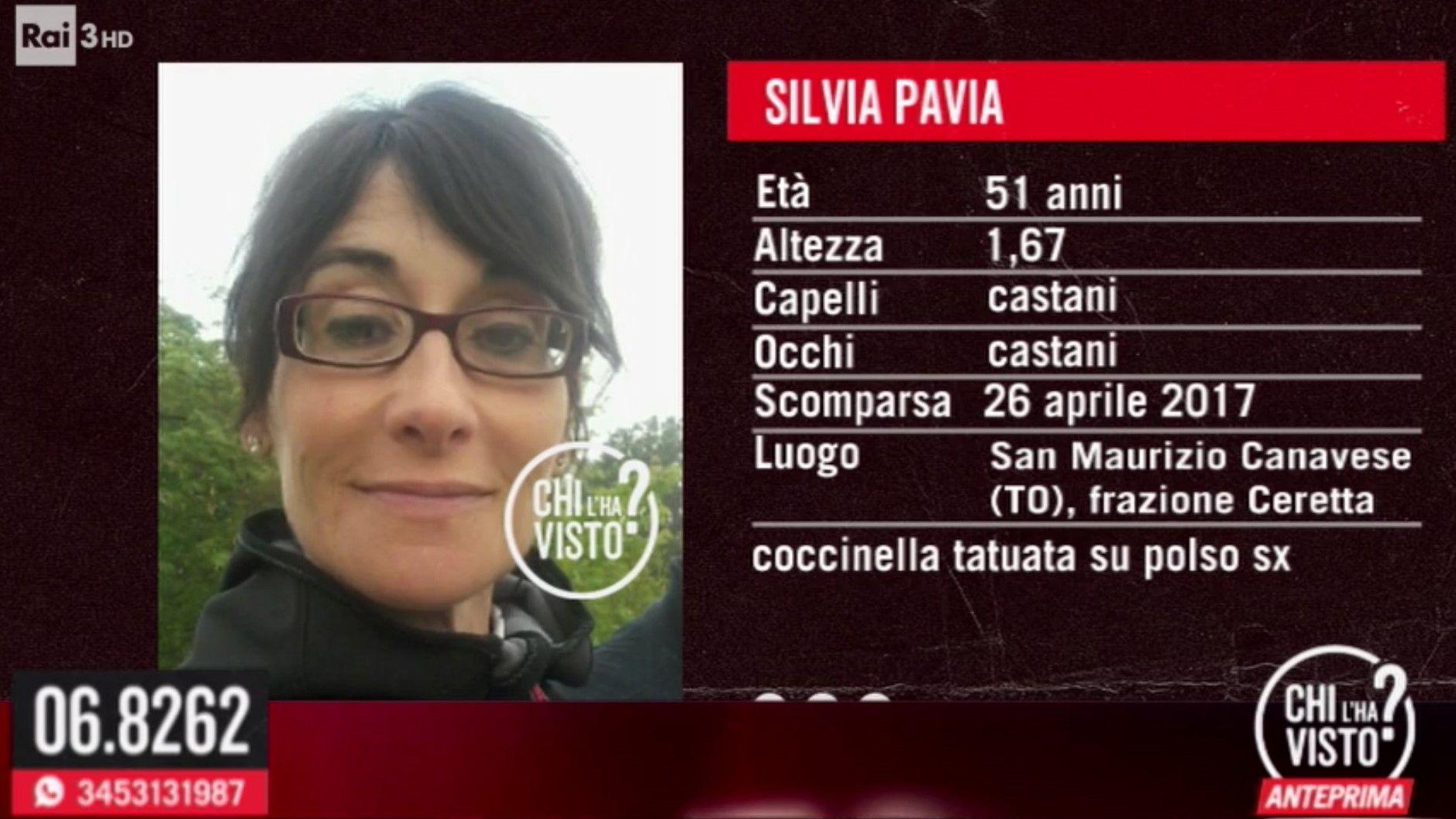 SCOMPARSA NEL NULLA - Ancora nessuna traccia di Silvia Pavia: appello in tv a «Chi l'ha visto» - FOTO