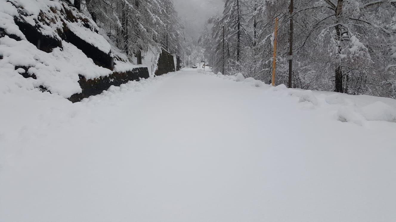 CANAVESE - Forte nevicata nelle Valli Orco e Soana: qualche disagio per i black-out in diversi paesi - FOTO