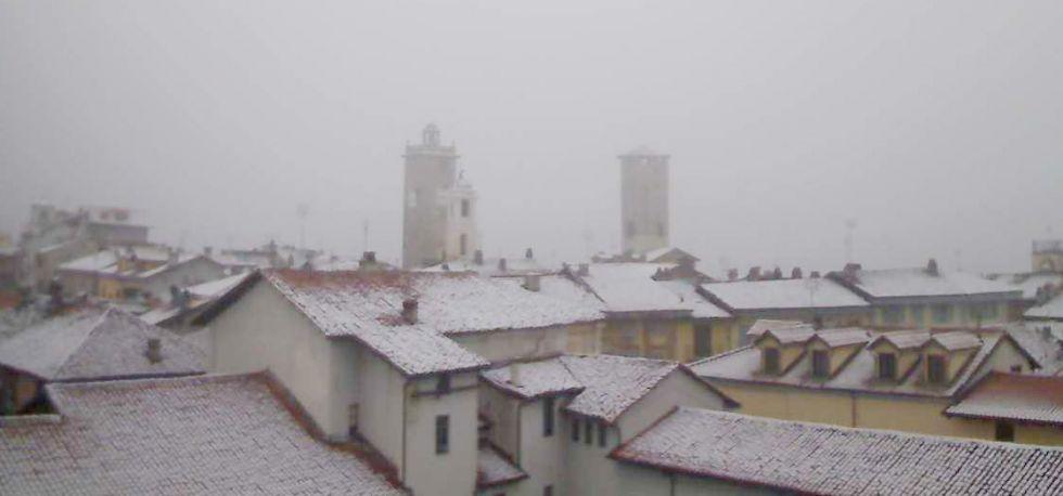 METEO - Il Canavese sotto la neve:  migliora la qualità dell'aria - FOTO