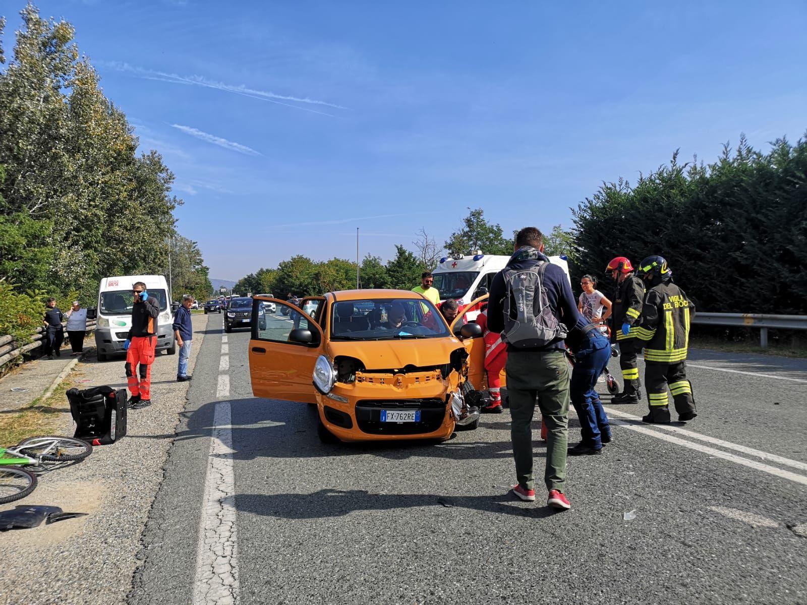 RIVAROLO CANAVESE - Un altro incidente stradale sul ponte dell'Orco: due donne di Agliè ferite - FOTO e VIDEO