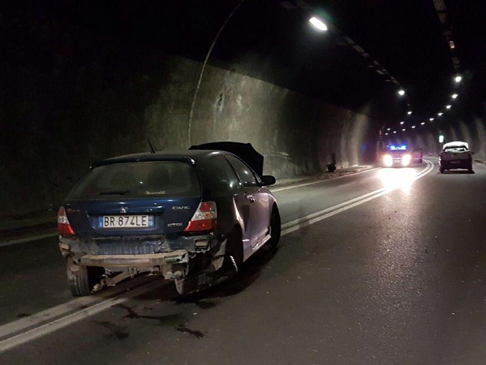 BALDISSERO - Incidente stradale in galleria: disagi sulla pedemontana