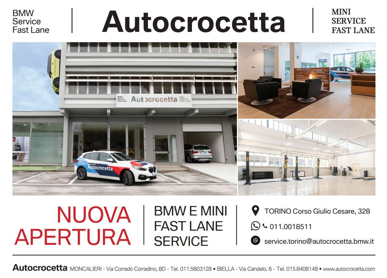 Apre il «BMW E MINI FAST LANE» di Autocrocetta in corso Giulio Cesare a Torino