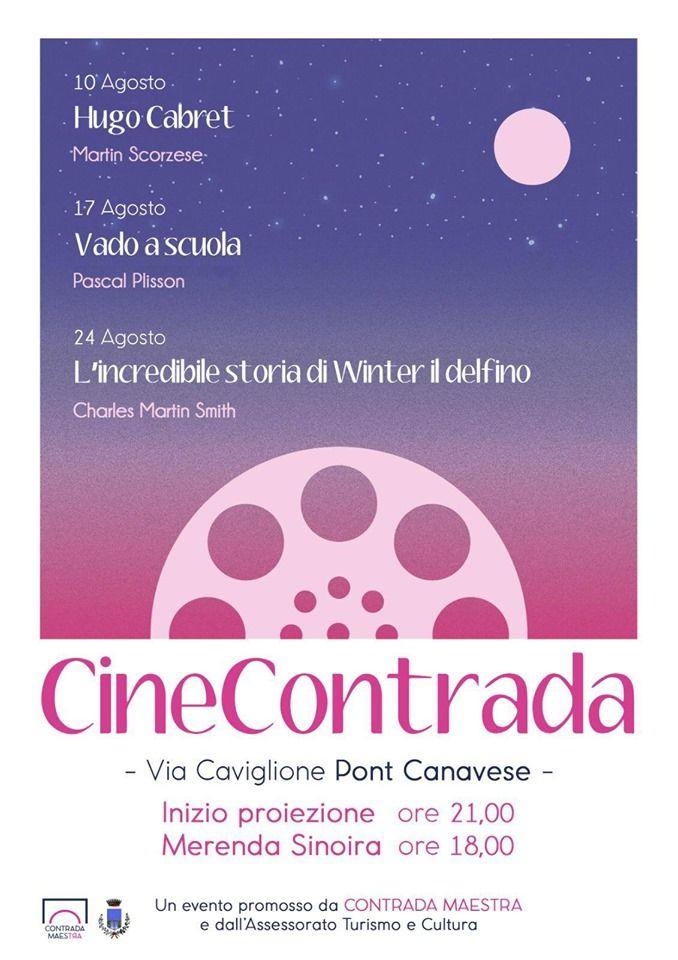 PONT CANAVESE - Contrada Maestra ospita il cinema all'aperto di «CineContrada»