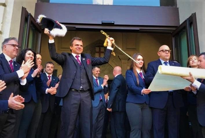 IVREA - E' iniziato lo Storico Carnevale 2020 con l'investitura del Generale Alberto Bombonato - FOTO
