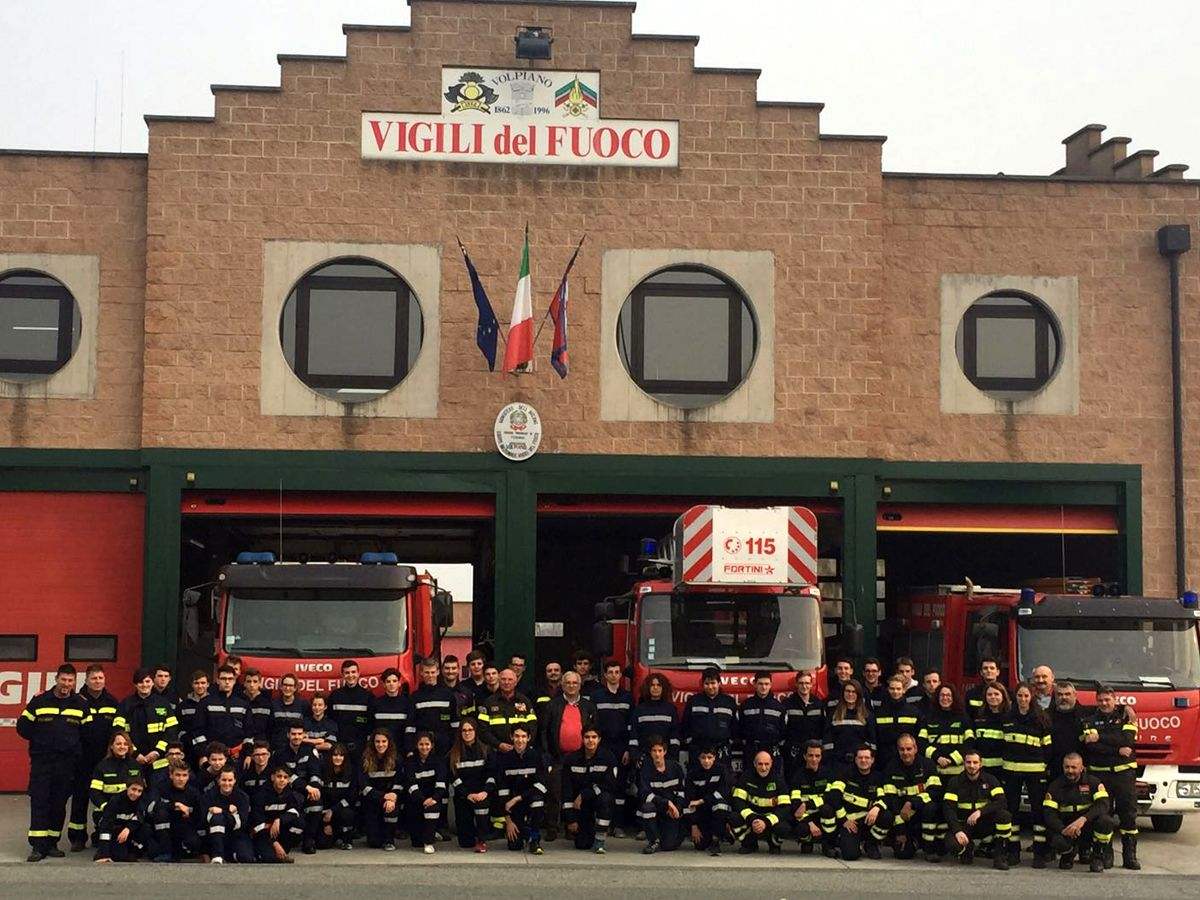 VOLPIANO - Un gemellaggio con i pompieri del Trentino Alto Adige