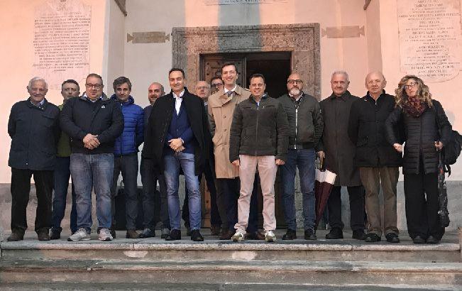 BELMONTE - Alberto Cirio in visita al santuario dopo gli incendi