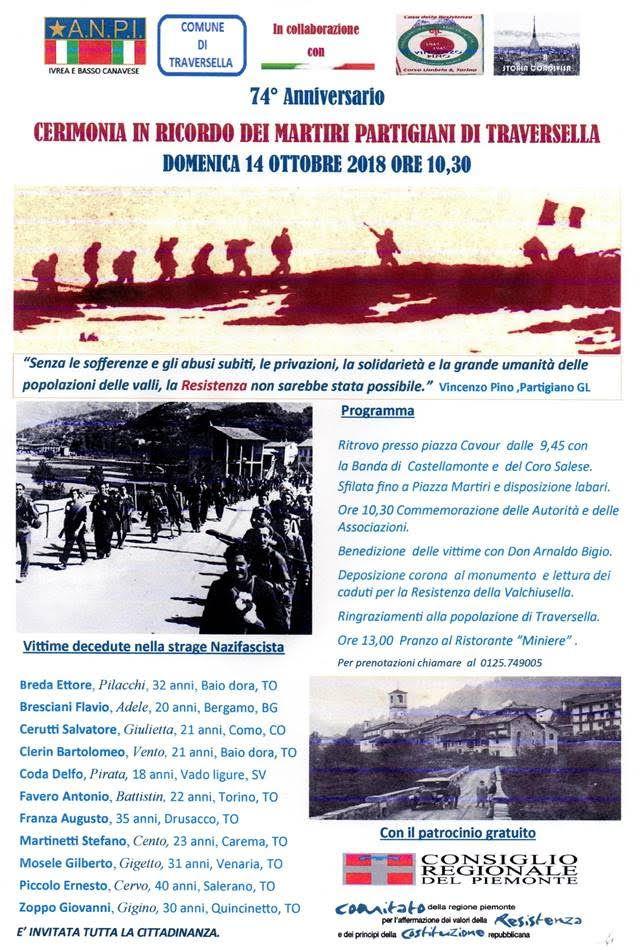 VALCHIUSELLA - L'Anpi ricorda i martiri del rastrellamento nazifascista