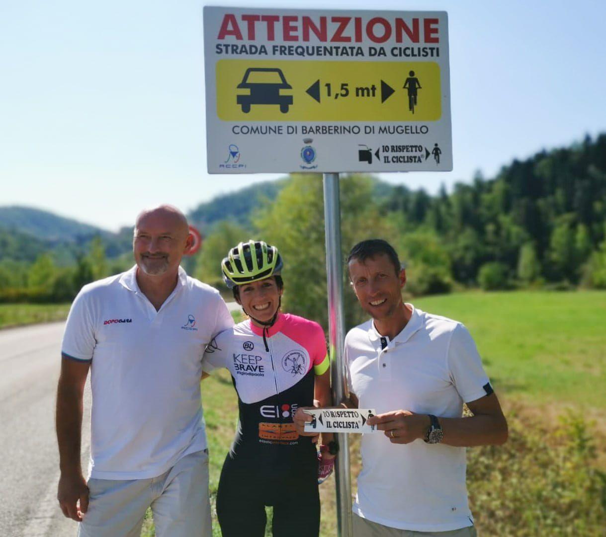 IVREA - Parte il Giro d'Italia, riparte Paola Gianotti per la sicurezza dei ciclisti sulle strade