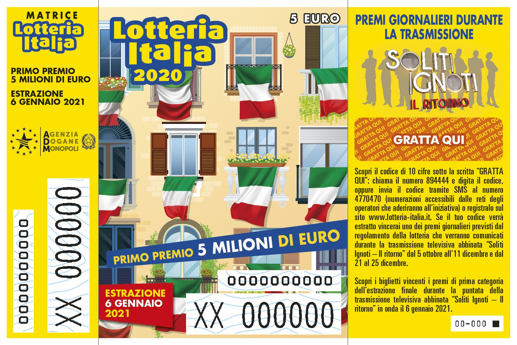 Soliti Ignoti 6 gennaio: puntata speciale Lotteria Italia 2021