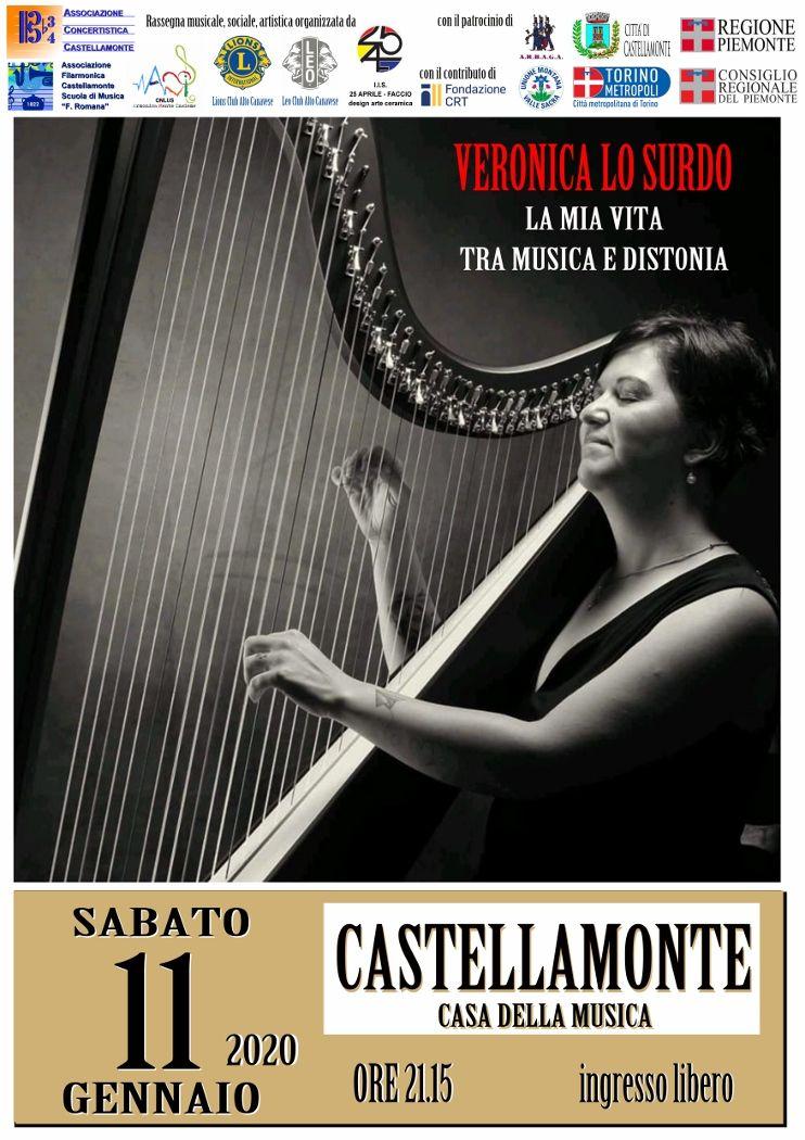 CASTELLAMONTE - Conferenza concerto di Veronica Lo Surdo sulla «distonia focale»