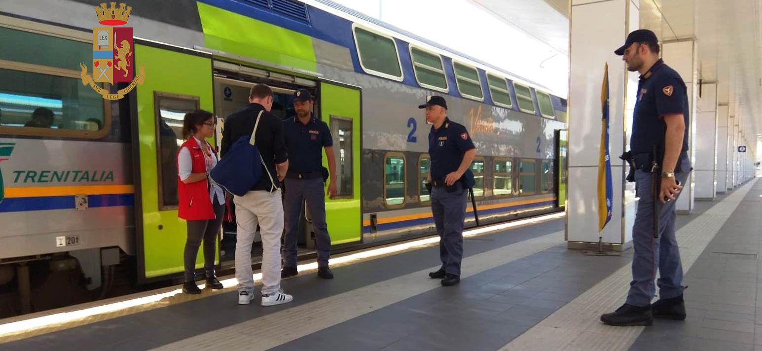 SICUREZZA - Attività della Polizia nelle stazioni e sui treni del Piemonte e della Valle d'Aosta