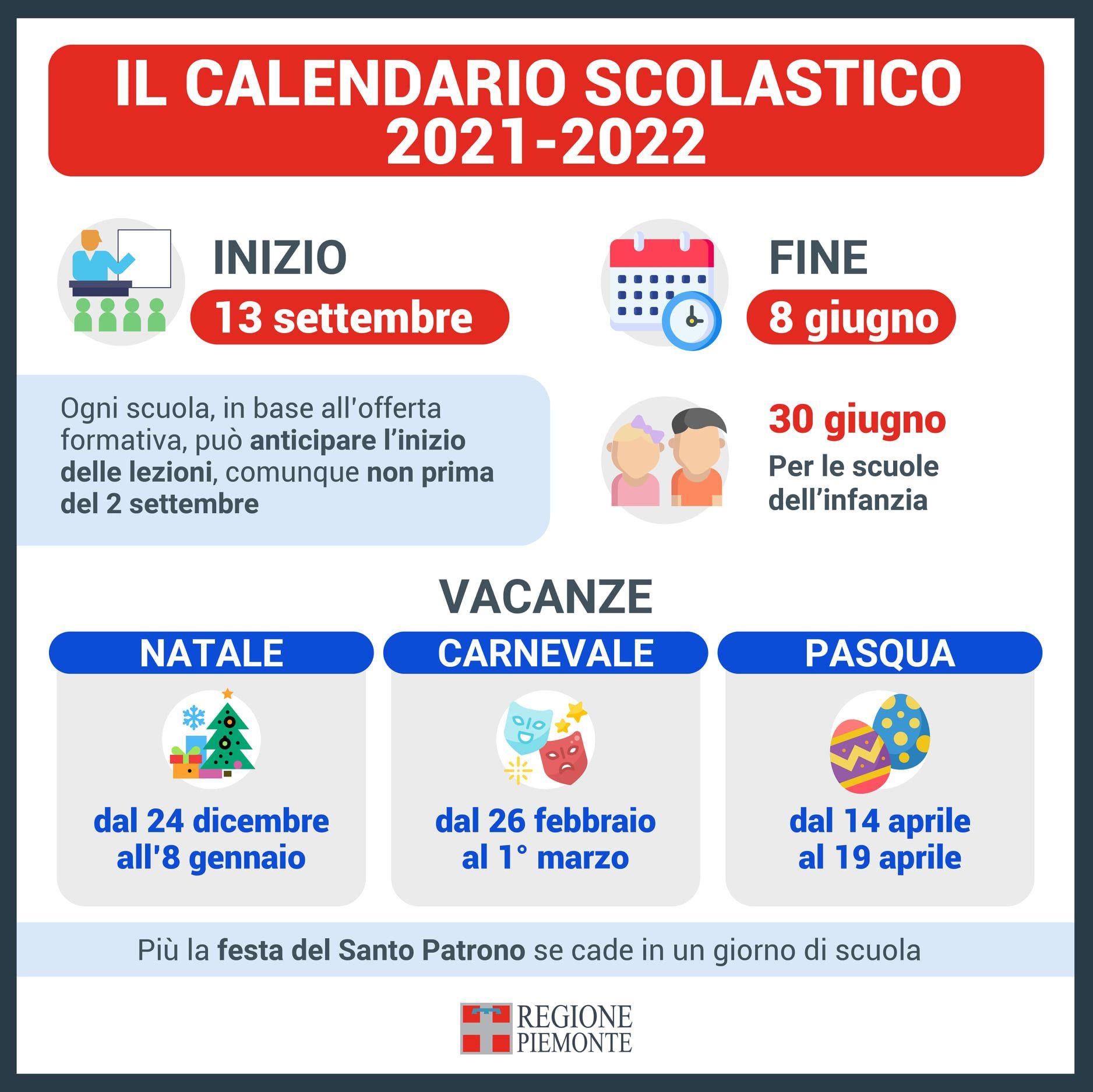 SCUOLA - Ecco il calendario del prossimo scolastico: si parte lunedì 13 settembre