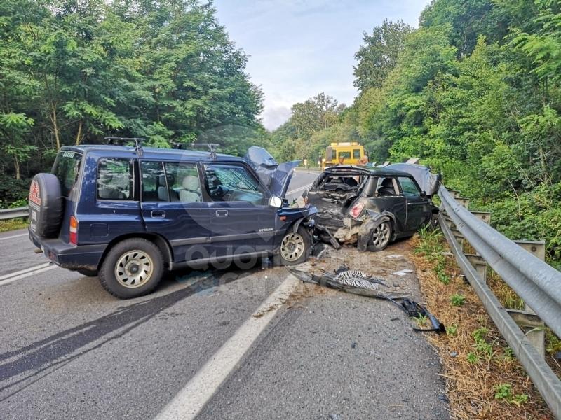 QUAGLIUZZO - Incidente sulla Pedemontana: due auto distrutte