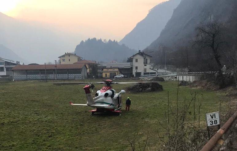 SPARONE - Precipita dalla parete di roccia: ferito 23enne di Ciriè
