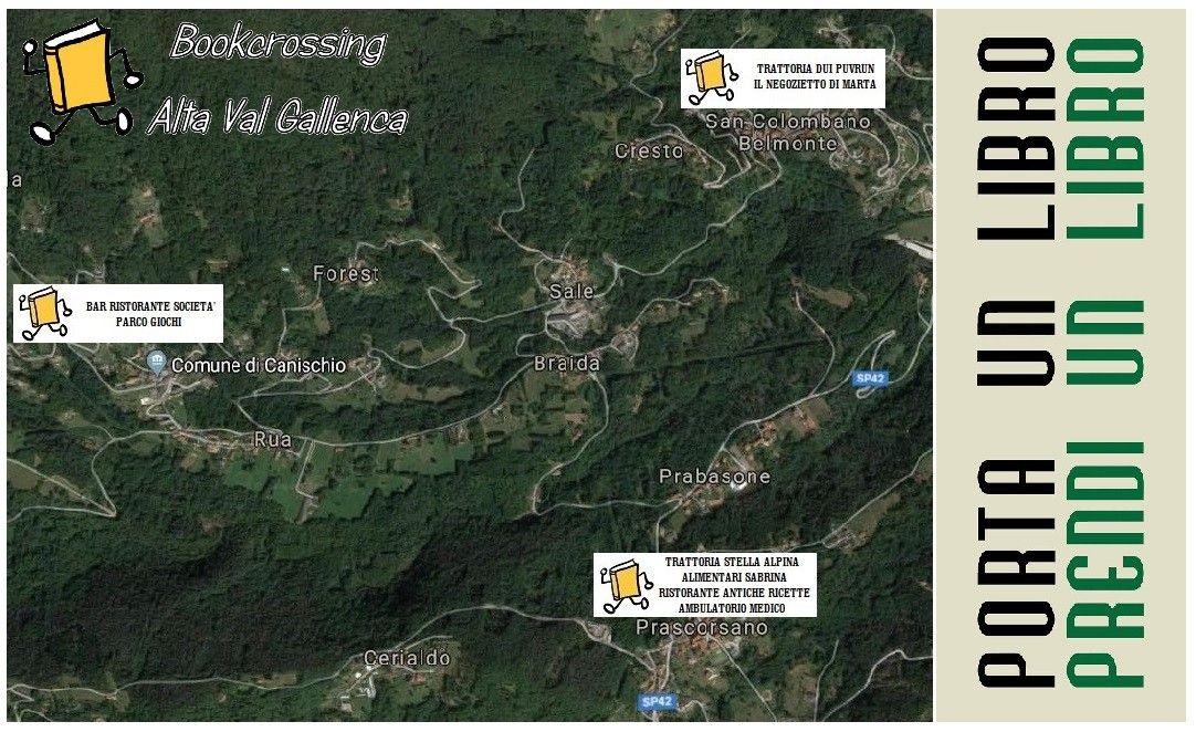 VAL GALLENCA - Da Prascorsano è partito il progetto «Bookcrossing»